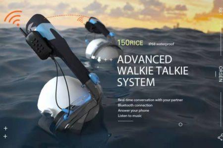 世界で最も安全なOrsen Airfreshのシュノーケルマスク、ウォーキートーキー付き