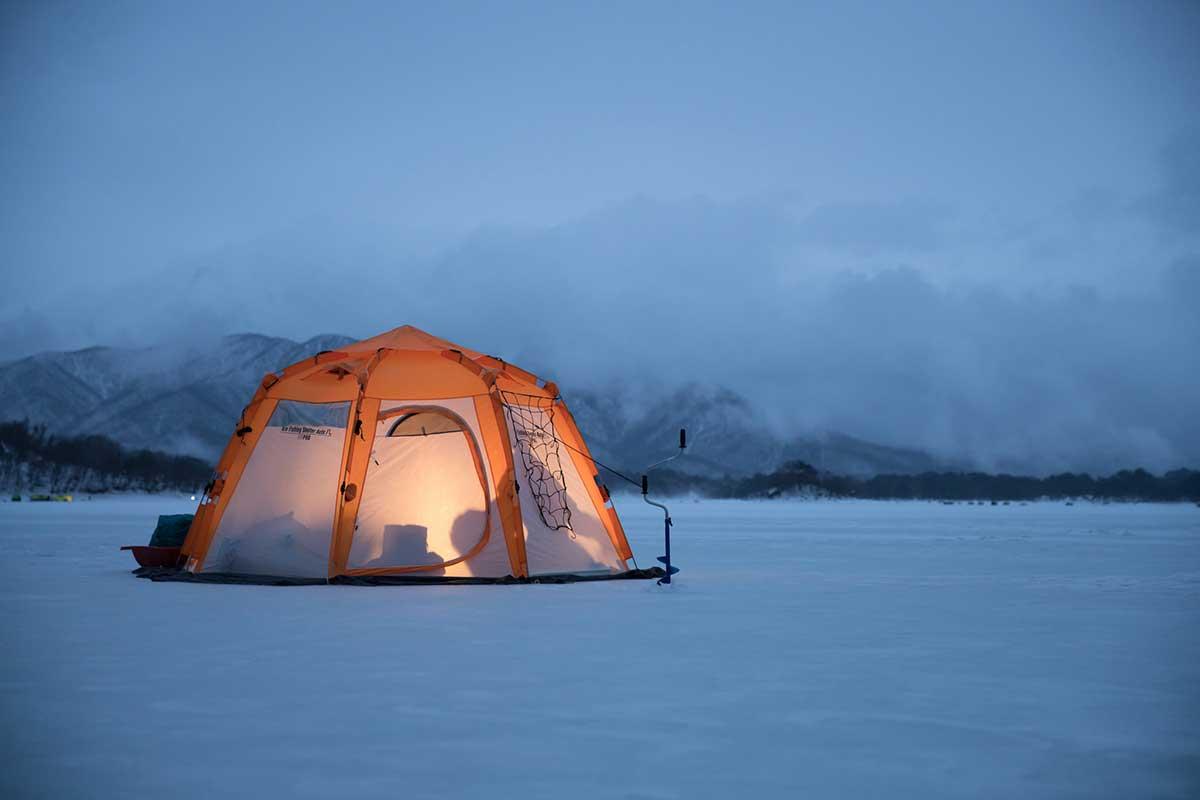 インフレーターマット 冬キャンプ