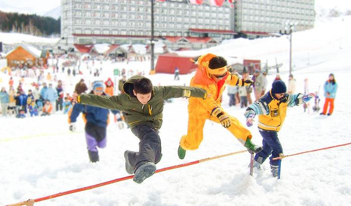 長野県白馬で雪上親子運動会<ホテルグリーンプラザ白馬/白馬コルチナスキー場>