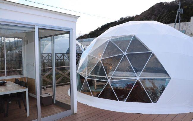 グランピング施設UFUFUVILLAGEにまるで'かまくら'のようなドーム型テントが誕生