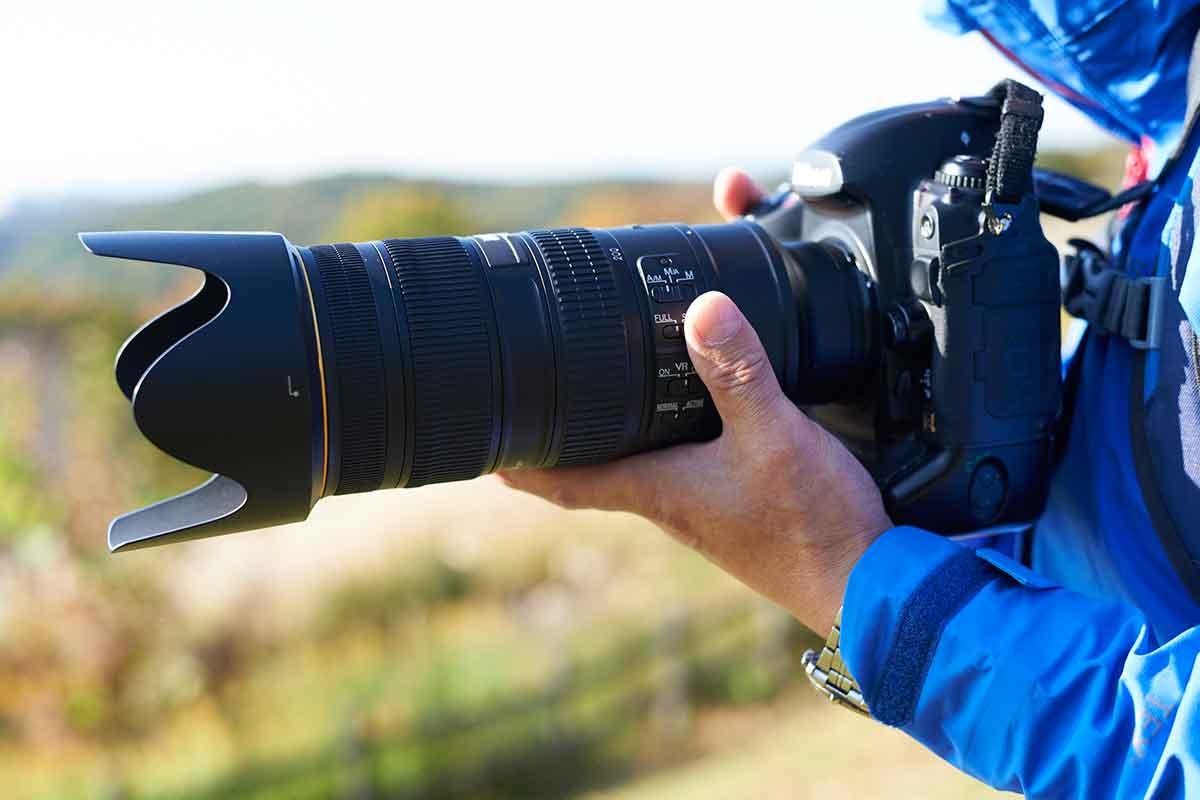 登山 一眼レフカメラ