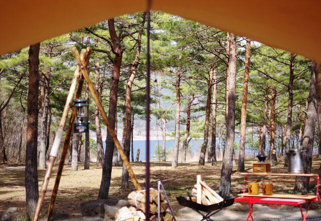 山梨県 キャンプ場 温泉