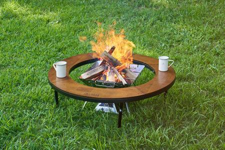 LOGOS(ロゴス)「アイアンウッド囲炉裏サークルテーブルL」新発売【8人でたき火が囲める!囲炉裏テーブルが円形になって新登場】