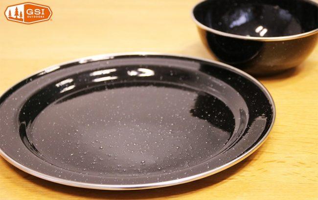 GSI OUTDOORS(ジーエス アイアウドドアーズ)のBLACK カラーホウロウ食器が発売