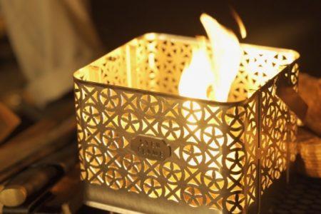 アウトドアブランド ステンフレーム、焚き火台をリリース【灯す焚き火台で炎で調理し、灯火で演出】