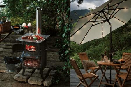 ディノス・セシールの煙突ストーブが秀逸【薪ストーブ、焚き火、バーベキュー、ダッチオーブン、かまどに使える煙突ストーブ】