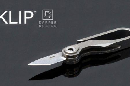 アウトドアから災害時にも最適なキーフック型ポケットナイフ『DAPPER KLIP』発売