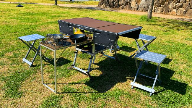 アウトドア多機能テーブルセット「EAGLE TABLE」を先行予約販売中!