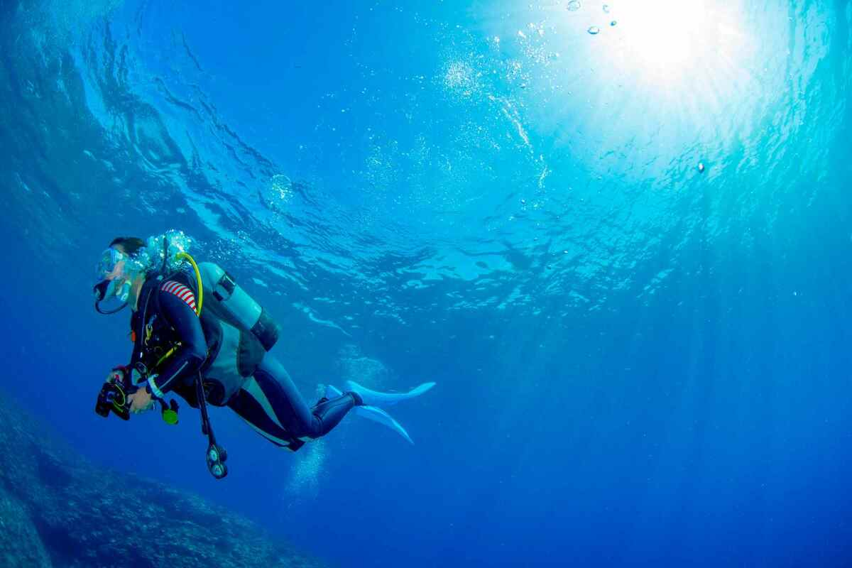 ダイビング フィンワーク