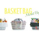 キャンプにも使えてスーパーのレジかごにぴったり!かごサイズのエコバッグ「バスケットバッグ」