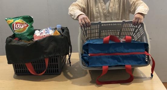 かごサイズのエコバッグ「バスケットバッグ」