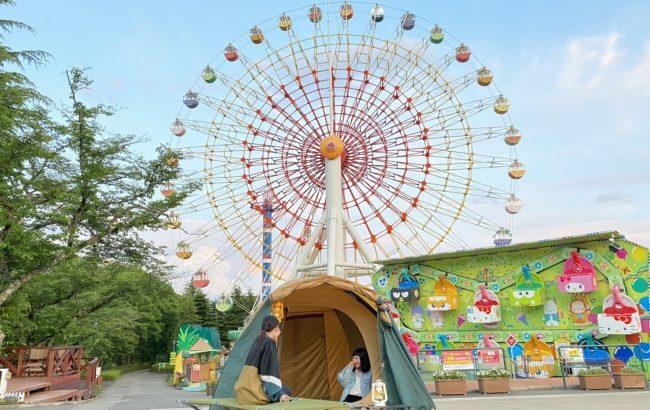 「Night‐那須ハイCAMP」、夜の遊園地でドキドキキャンプ体験