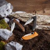 折りたたみ式ナイフ「ハンティング Pro」は木割りも可能な強靭なナイフ