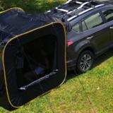 車と連結できるテント「CARSULE」は車中泊もキャンプも楽しめるポップアップテント!