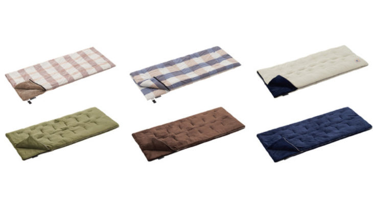 LOGOSの封筒型シュラフは人気のやわらかフランネル素材&さらさらコットン!
