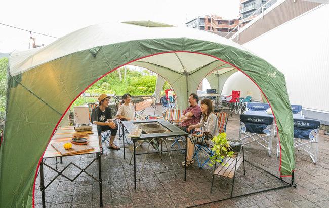 博多南ナチュラルビア&オイスターガーデン、屋上グランピングで気軽に楽しめるアウトドア体験!