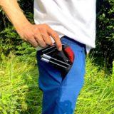ポケットに入る折りたたみ椅子「スーパーポケットチェア 」は超コンパクト&超軽量!