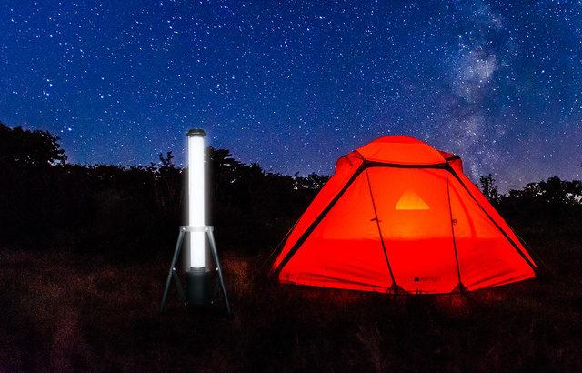 円柱型充電式LEDランタン(ライト)で、キャンプ・登山・釣り・緊急時などで大活躍!