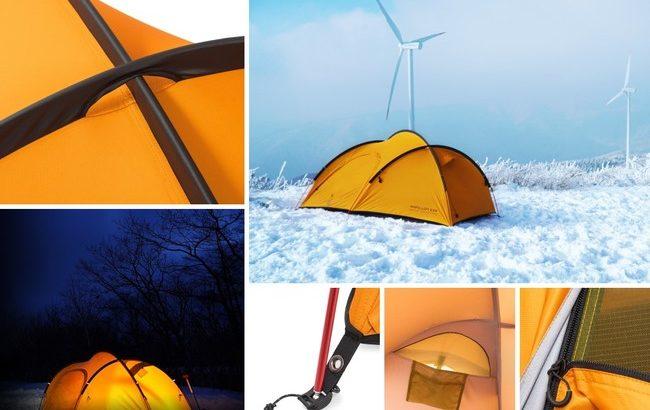 ZEROGRAMの軽量シングルウオールテント「Papillon EXP」は厳冬期にも快適!