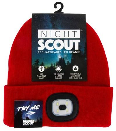 LEDライト付きキャップ 「NIGHT SCOUT」