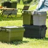 キャンプ収納の定番「トランクカーゴ」から外使いの機能性が向上したスタッキングタイプ登場