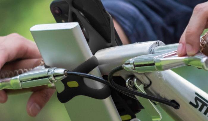 サイクリストから圧倒的な支持!自転車用スマホホルダーBikeTieシリーズにモバイルバッテリーも固定可能な最新モデル