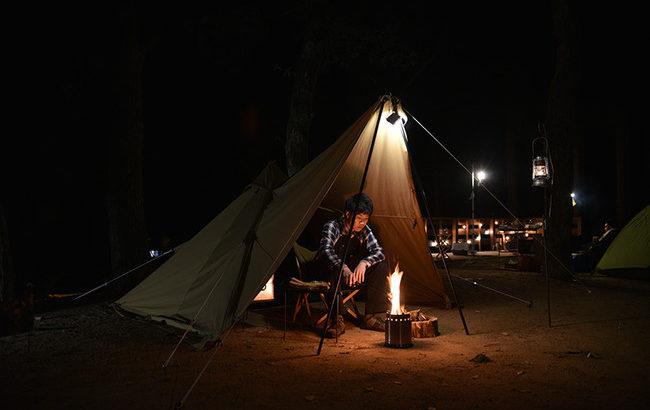 WAQの「Alpha T/C(ソロ用テント)」はソロキャンプを快適に楽しめるティピーテント