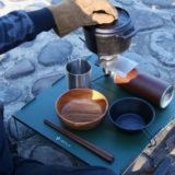 ソロキャンプを広いテーブルで楽しみたい!VENTLAXのワイド耐熱アルミローテーブルは1分で組立可能!