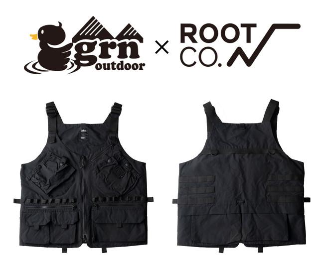 「grn outdoor」×「ROOT CO.」コラボアウトドアベスト