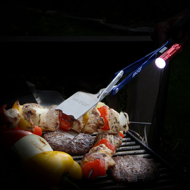 LEDライト付BBQマルチトング