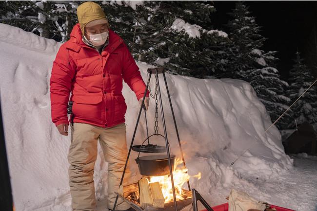 北海道で雪中キャンプ!ばえキャン