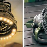 人気の暖色ランタンと扇風機が合体!OUTDOOR MANの「FAN&WARM LIGHT」