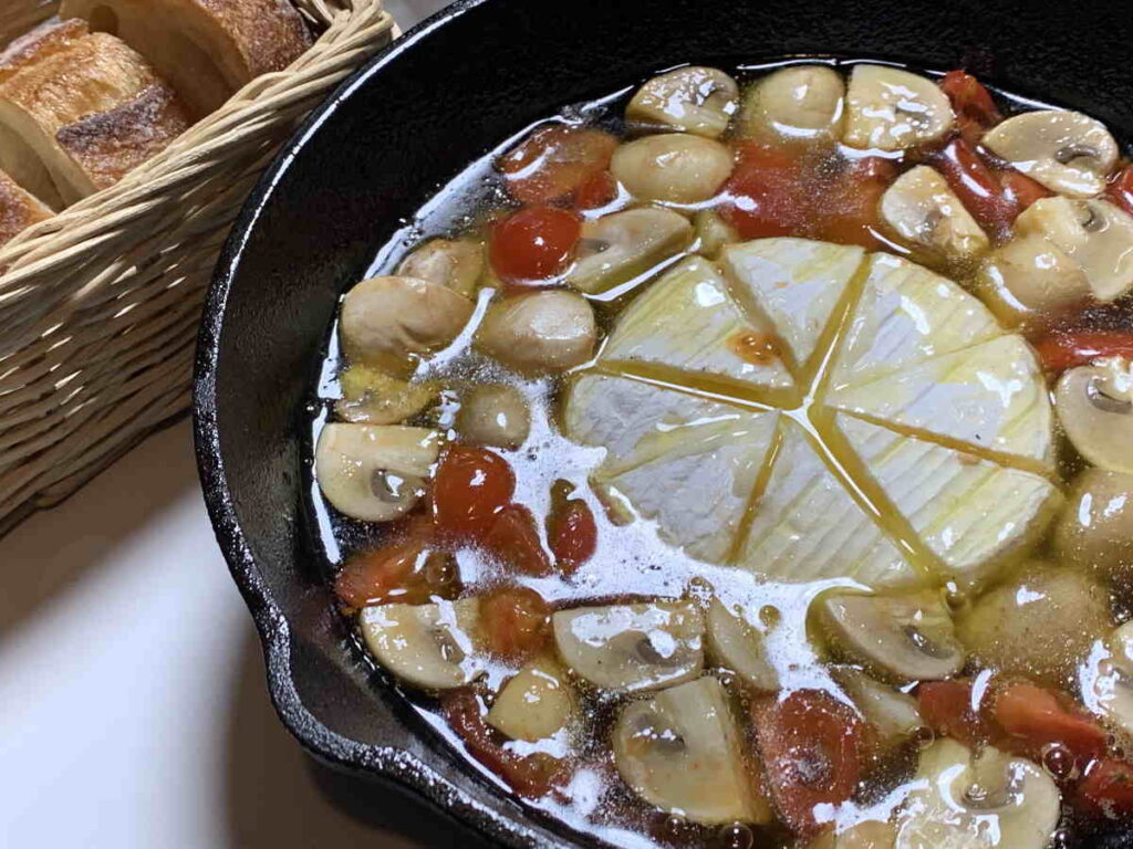 キャンプ チーズ料理