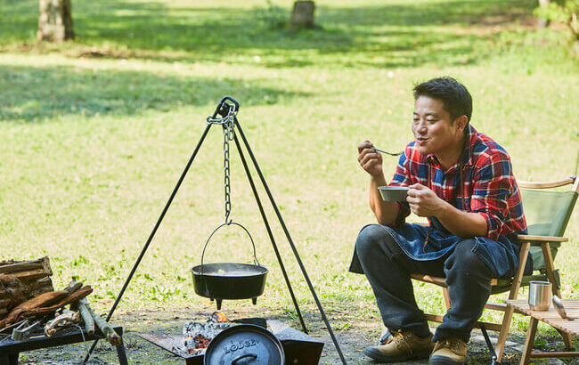 「栗原心平のごちそうキャンプ」料理研究家がキャンプで実際につくっている、とっておきレシピを初公開!