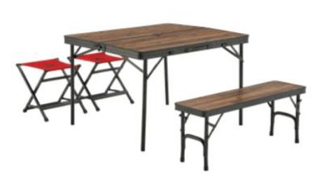 LOGOS「Tracksleeper テーブル」シリーズはヴィンテージウッド調が人気のテーブル