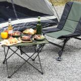 OUTDOOR MAN、持ち運び簡単なアウトドアテーブル「HANGING CHAIN TABLE」はハンギングチェーンが便利!