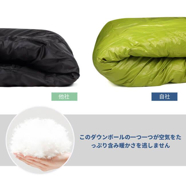 高品質グースダウン寝袋