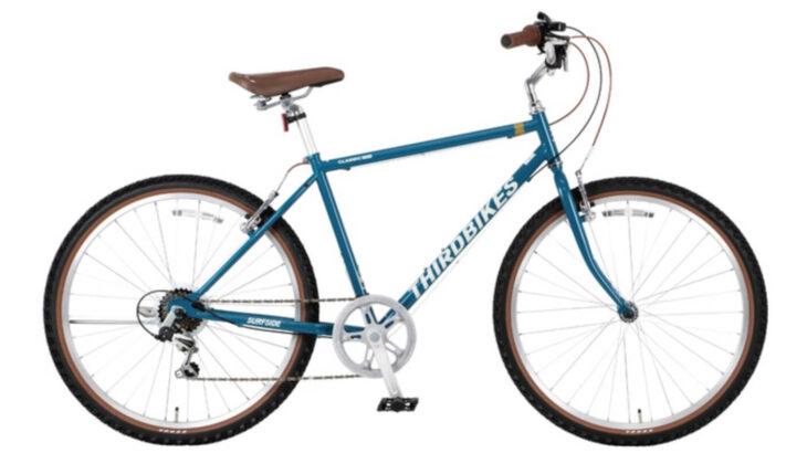 THIRDBIKESのSURFSIDEが新色グレイッシュブルー発売。オールドMTBスタイルでゆったりとした街乗りを。