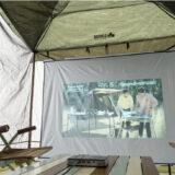 「ポータブル LOGOSシネマスクリーン」はテントが即席映画館に!屋外でも使えるプロジェクター用スクリーン