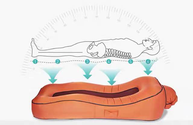 5秒で簡単に作れるエアーラウンジャーはパラシュート素材で強度・通気性抜群!