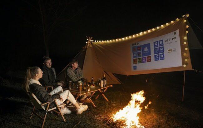 モバイルプロジェクター「FILMATIC(フィルマティック)」、キャンプで野外シネマ!