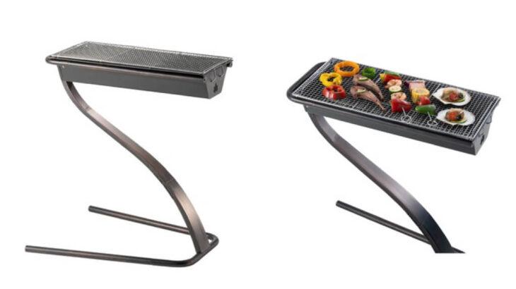 LOGOSの「S grill・モダンヴィンテージ」は浮遊感ある新感覚BBQグリル