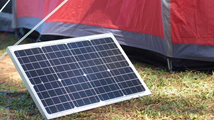 キャンプ ソーラーパネル