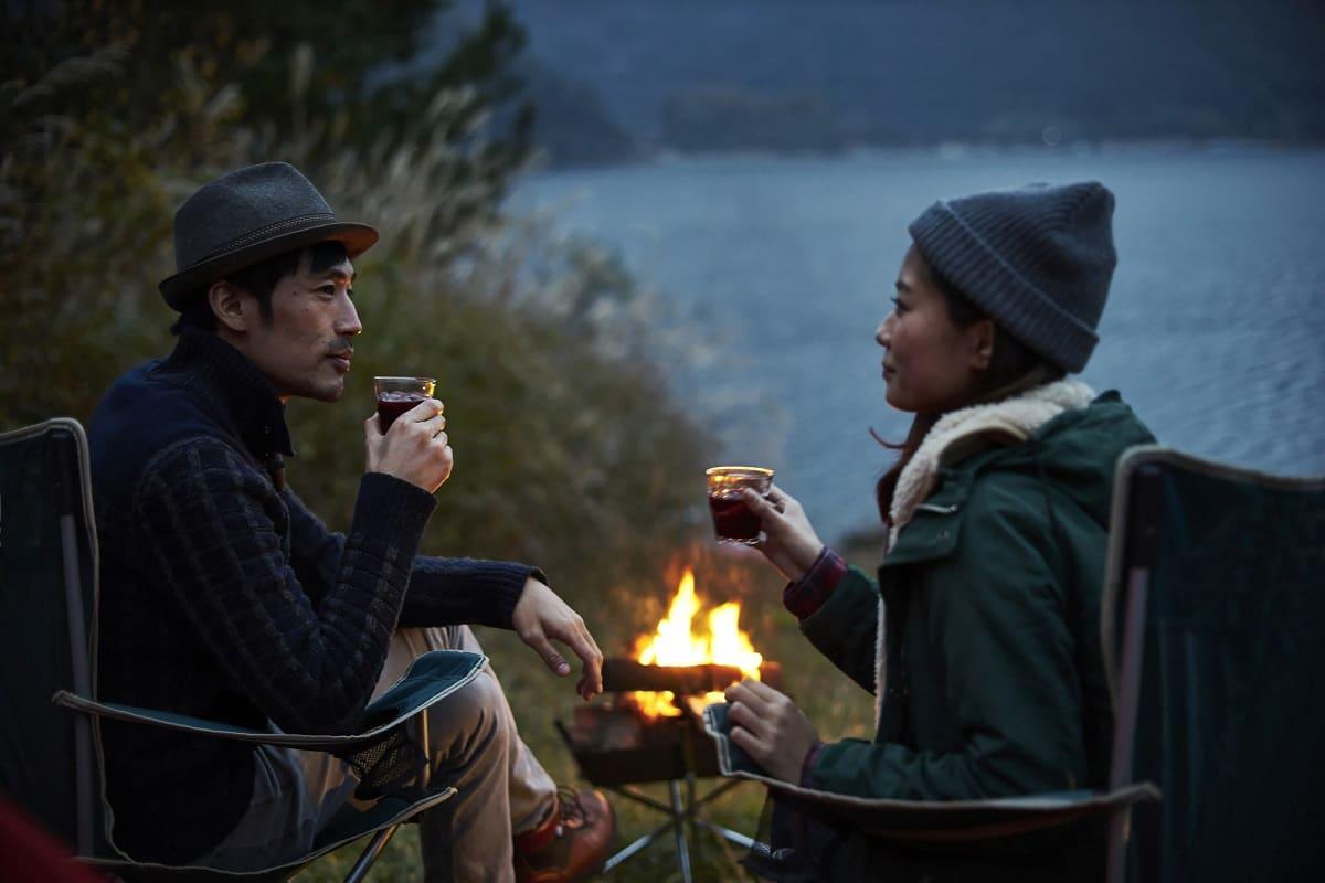 秋キャンプ アウター