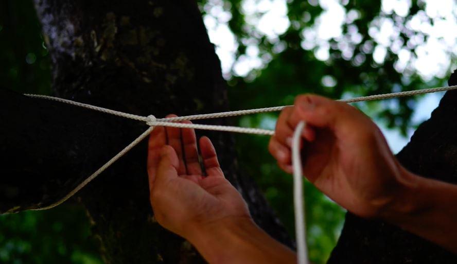 キャンプ 洗濯ロープ